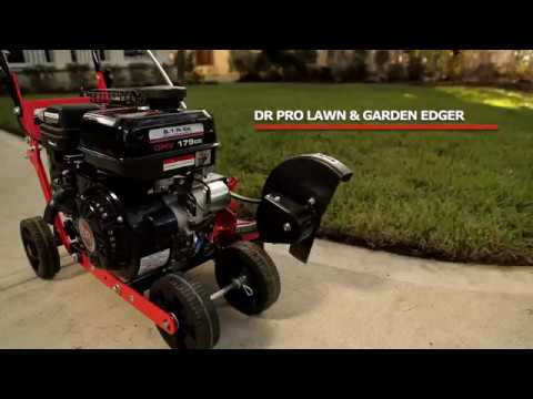 Product Video, DR Walk-Behind Lawn Edger - Manual Start
