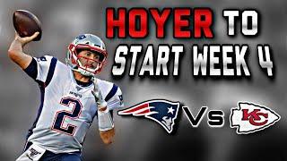 Patriots to Start QB Brian Hoyer against the Kansas City Chiefs