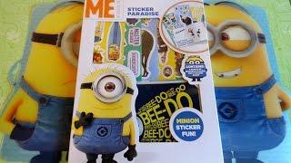 Minions Movie Big Surprise Minion Sticker Fun Pack European Collection 迷你小兵