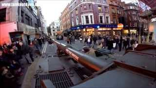 Driving A Tank Through Narrow Streets in Soho London & on to Oxford Street