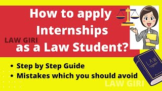 How to apply for Law Internship Winter 2020| How to apply for Law Internship Step by Step