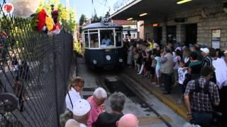 preview picture of video 'Inaugurazione TRAM di Opicina, Trieste 11 luglio 2014'