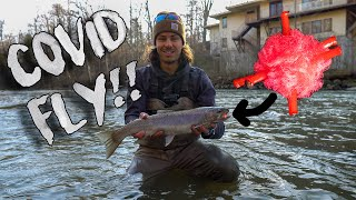 Fly Fishing with Coronavirus Fly (Ohio Steelhead)