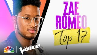 """Zae Romeo Sings Miley Cyrus' """"When I Look at You"""" - The Voice Live Top 17 Performances 2021"""