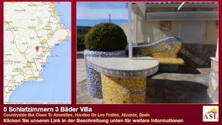 preview picture of video '5 Schlafzimmern 3 Bäder Villa in Hondon De Los Frailes, Alicante'