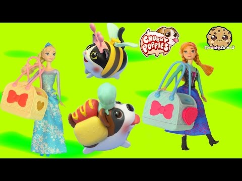 Dress Up Chubby Puppies Boxer Dog + Cat With Queen Elsa & Anna Cookieswirlc Video