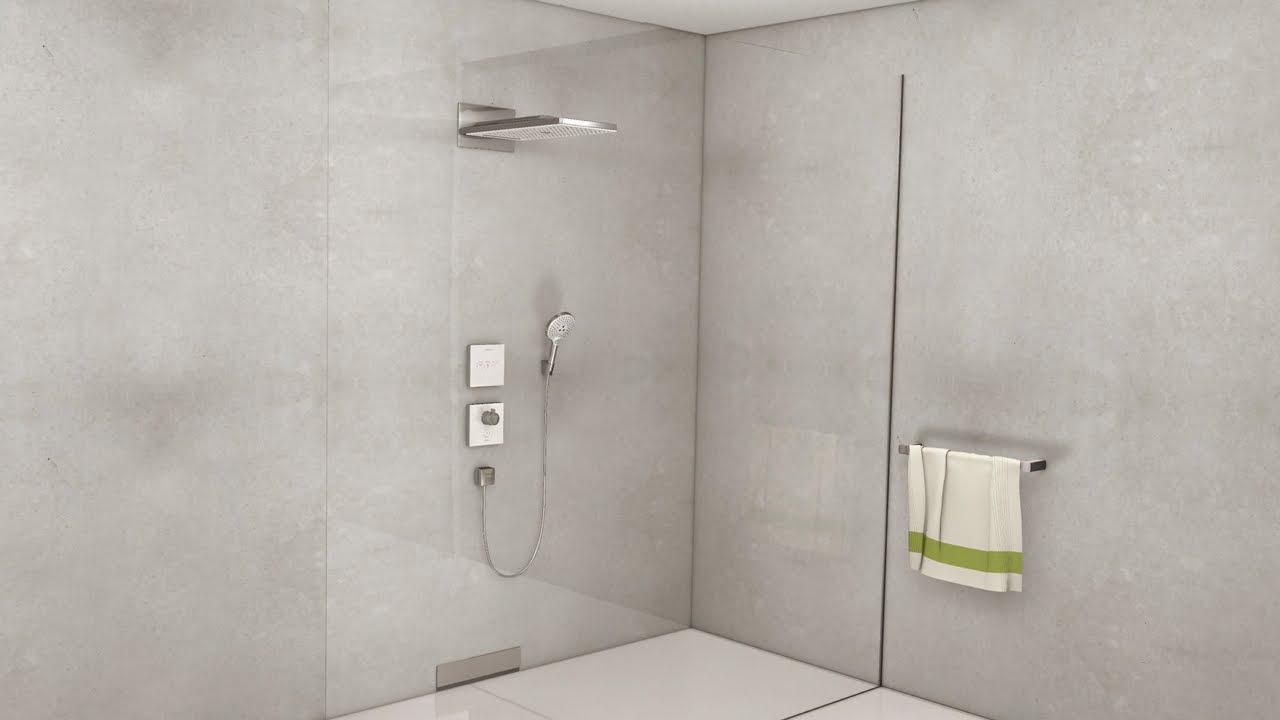 hansgrohe kopfbrausen rainmaker select 3 strahlarten art nr 24001600 hansgrohe de. Black Bedroom Furniture Sets. Home Design Ideas