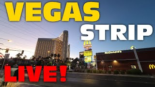 Walking THE Vegas Strip Live (is Vegas SAFE And SURVIVING?)
