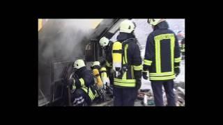 preview picture of video 'Brennender Reisebus auf der A2 bei Lehrte'