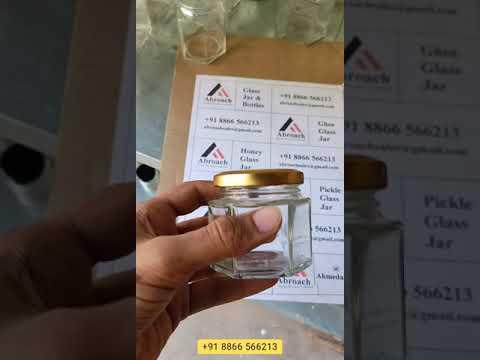 100Ml Hexagon Glass Jar