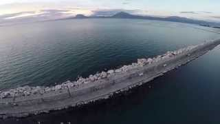 preview picture of video 'Dji phantom 2 aerial videos from Old port in patras and Saint Andrew'