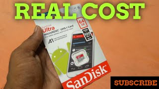 Sandisk 64gb class10 a1 SD card price | REAL cost sandisk 64gb sd card