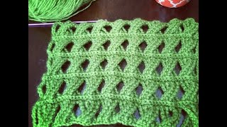 Crochet Pattern - Cable Crochet Stitch - Tunisian Crochet