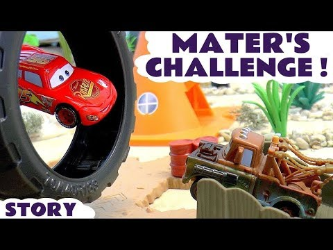 Disney Pixar Cars McQueen And Mater Challenge With Hot Wheels Superheroes