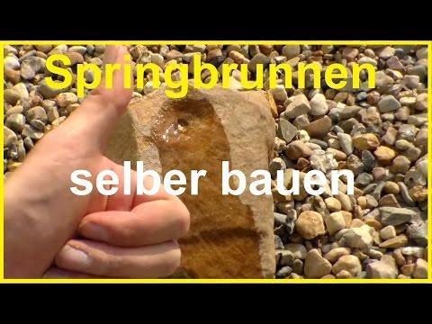 Gartenbrunnen selber bauen - Brunnen selber bauen - Wasserspiel selber machen Springbrunnen