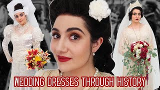 I Tried Wedding Dresses Through History