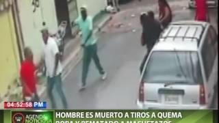 Hombre es muerto a tiros a quema ropa y rematado a machetazos