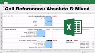 Absolute & Mixed Cell References - Microsoft Excel