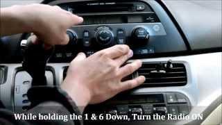 Honda Odyssey Radio Code Reset (How to Unlock a 'locked' radio)
