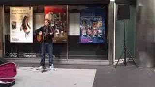 preview picture of video 'James Morrison busking in Birmingham city centre 4 (Place in the Sun)'