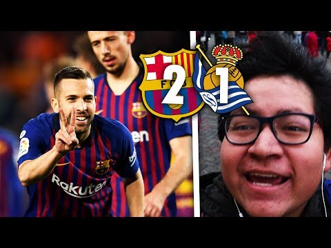 CHAMPIONS BY NEXT WEEK? Barcelona 2-1 Real Sociedad | Match Vlog | BugaLuis