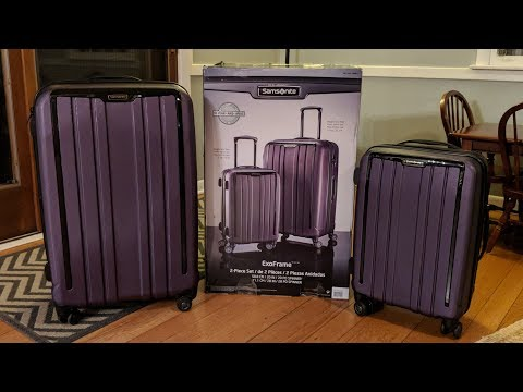 "Costco Samsonite ExoFrame Spinner Luggage 20"" & 28"" Set Unboxing and Review"