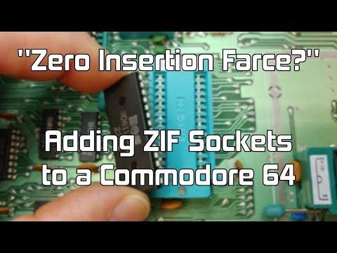 """#11 """"Zero Insertion Farce?"""" — Installing ZIF Sockets on a C64 Motherboard"""