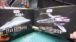 Bandai Star Wars Star Destroyer & X Wing Vehicle Model unboxings