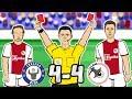 🔴2 SENT OFF! 4-4!🔴 Chelsea vs Ajax (Champions League 2019 Parody Goals Highlights)