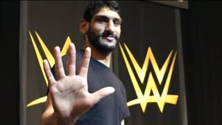 """One in a Billion"" star Satnam Singh practices drills at the WWE Performance Center"