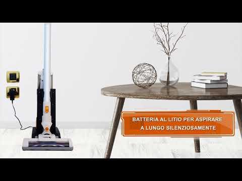 Aspirapolvere senza fili con sistema di aspirazione ciclonico - Turbo Silence