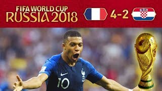 FRANCE 4-2 CROATIA - MBAPPE IS A WORLD CUP WINNER AT 19!