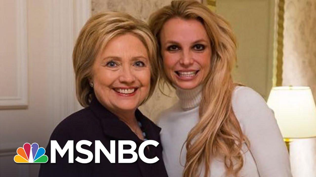Britney Spears Meets Hillary Clinton In Las Vegas Ahead of Caucus  | MSNBC thumbnail