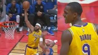 Rajon Rondo & Javale McGee Shock The Crowd With Dunks and Passes! Lakers vs Clippers