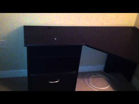Bush L shaped office desk assembly service video in DC MD VA by Furniture Assembly Experts LLC