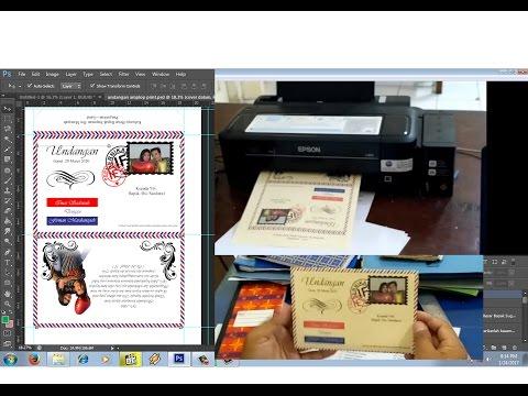 Video membuat undangan pernikahan sendiri model amplop dengan printer