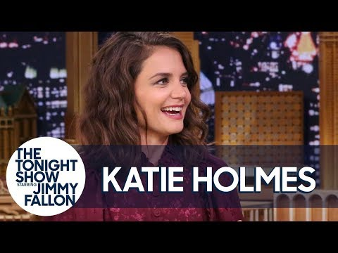 Katie Holmes Attempted Atlantis' Leap of Faith Water Slide