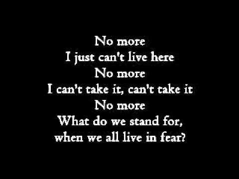 Three Days Grace - No More (lyrics)