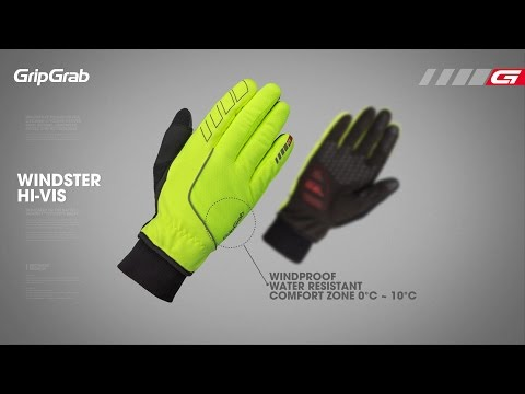 GripGrab Windster Hi-Vis vinter handsker video