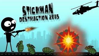 Stickman Destruction Free Walkthrough Part 4 / Android Gameplay HD