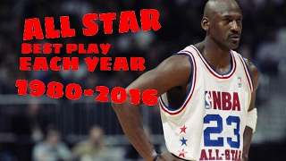 NBA All Star Best Play Each Year (1980-2016)