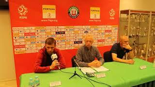 Wideo: Konferencja prasowa po meczu Górnik Polkowice vs Odra Opole 1:1 (0:1)