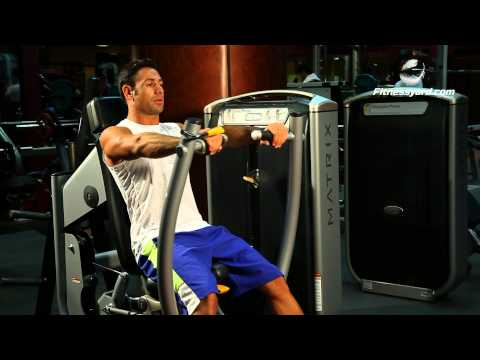 Chest Exercises -- Lever Chest Press