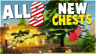 Fortnite Battle Roya ALL 8 NEW CHEST and Tree Locations