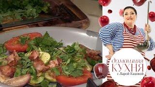 Печеные овощи на сковороде гриль