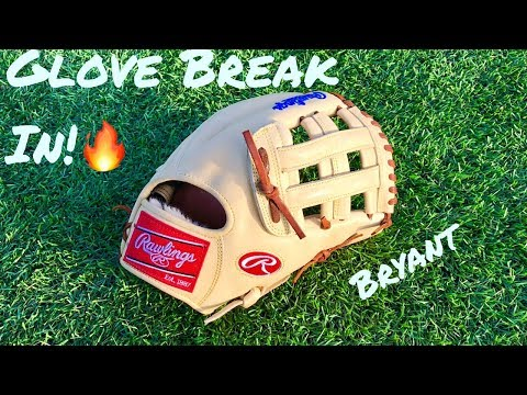 HOW TO BREAK IN A GLOVE/ VLOG!