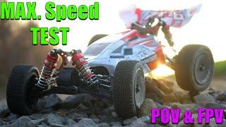WLToys 144001 max. speed test [POV & FPV]