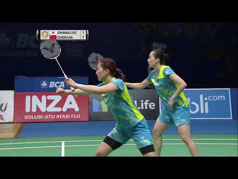 BCA Indonesia Open 2017 | Badminton F M1-WD | Chang/Lee Vs Chen/Jia