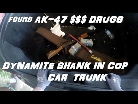 Broke into cop car trunk and found ak47 $$ drugs crown rick auto p71vic victoria police interceptor