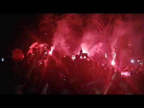 """""""Banderazo Centenario Rojinegro"""" Barra: La 12 • Club: Alajuelense"""